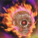 Burning Skull Head